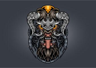 Devil fang horned cyberpunk