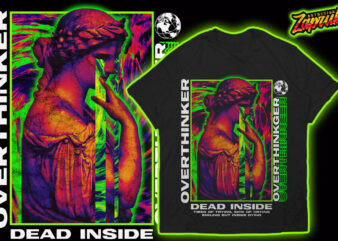 Overthinker Trendy Modern Streetwear Tshirt design