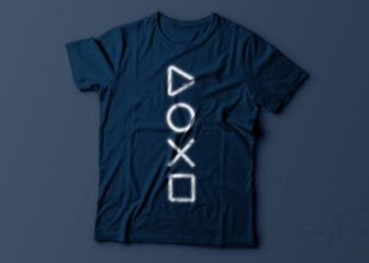 PlayStation Gaming t shirt design ready to print