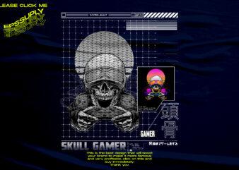 SYSTEM SKULL GAMER PROGRAMER DESIGN TSHIRT
