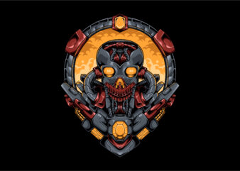 Mecha skull robotic