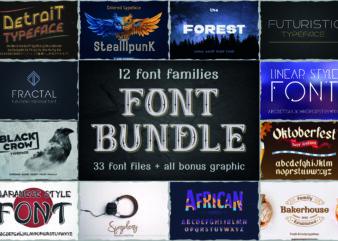 12 Font Families Bundle