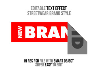 Editable Text Effect Streetwear Style 1 PSD File with Smart Layer