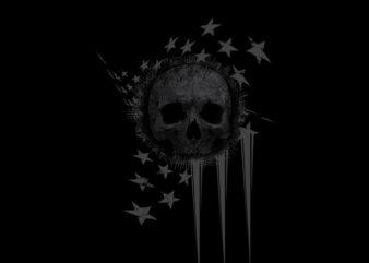 usa flag skull cool