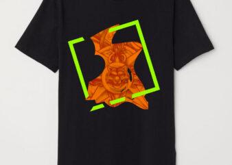 tiger colorful geometric indistinct shapes tshirt design