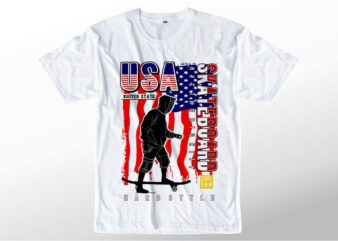 t shirt design graphic, vector, illustration usa skateboard lettering typography