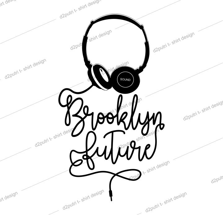 t shirt design graphic, vector, illustration brooklyn future lettering typography