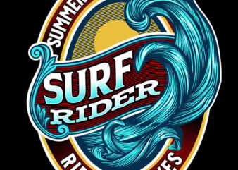Surf Rider Ride The Waves