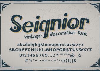 Seignior – vintage font