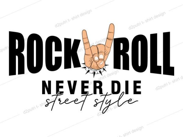 music t shirt design graphic, vector, illustration rock and roll lettering typography