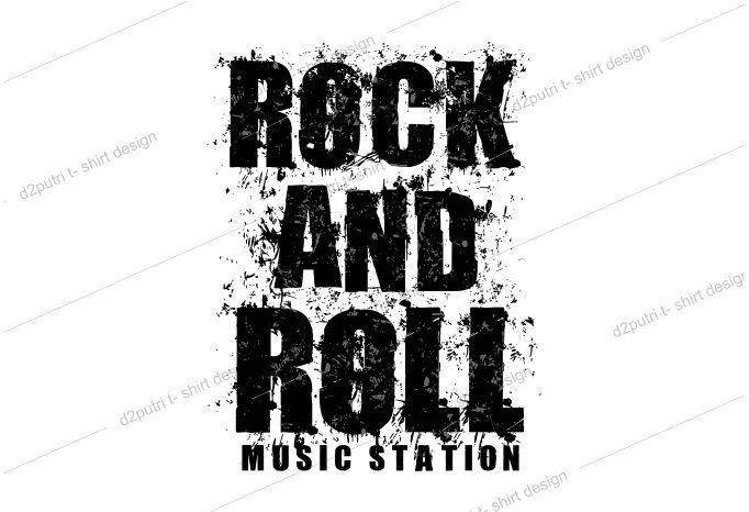 music t shirt design graphic, vector, illustration rock and roll abstrack lettering typography