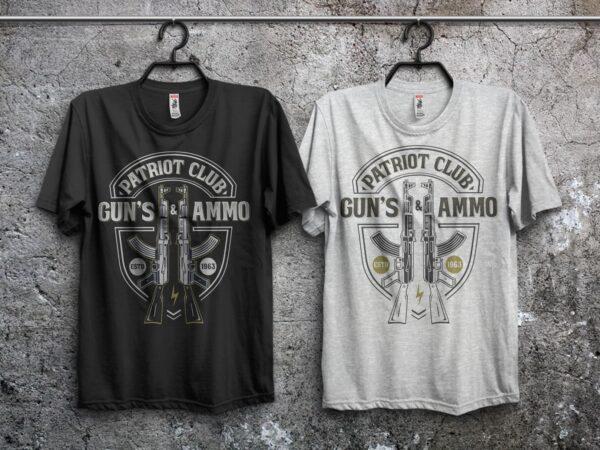 Patriot club t shirt illustration