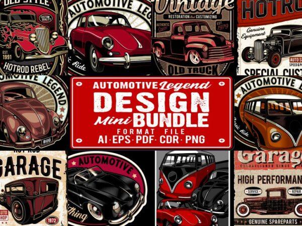Automotive Legend Mini Bundle 1 t shirt vector