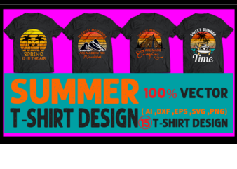 Best selling summer t-shirt designs bundle – 15 summer t shirt designs bundle, 100% vector (ai, eps, svg, dxf, png), beach t shirt design bundle, surf t shirt bundle, surfing t shirt design bundle, summer t shirt design bundle for commercial use