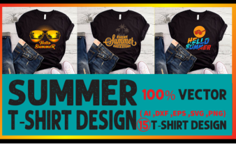 Best selling summer t-shirt designs bundle – 15 summer t shirt designs bundle, 100% vector (ai, eps, svg, dxf, png), beach t shirt design bundle, surf t shirt bundle, surfing t shirt design bundle, summer t shirt design bundle for commercial use