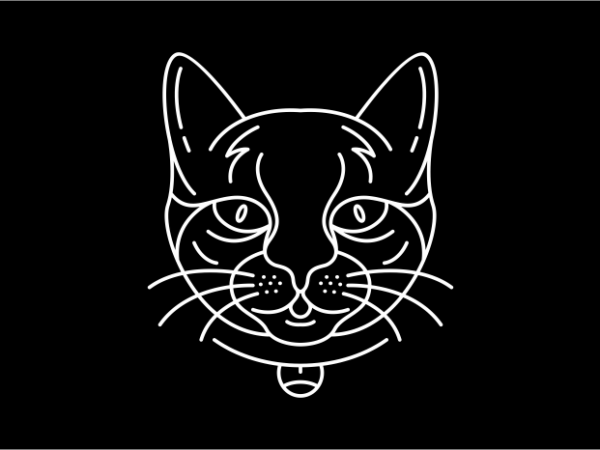 Cat 2 t shirt vector file