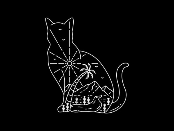 Cat 3 t shirt vector file