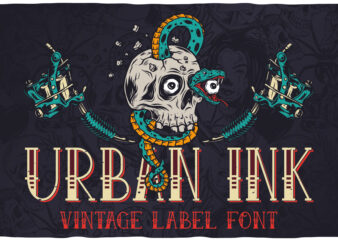 Urban Ink – Tattoo style layered label font