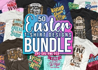 Easter day t shirt design bundle typography lettering inspiring quotes for commercial use
