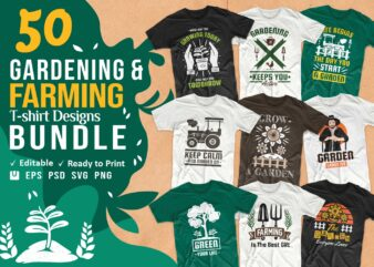 gardening t shirt designs bundle, farming t shirt designs, farming t shirt slogans, agriculture t shirt designs, editable Gardening quotes t-shirt design pack collection, commercial use t shirt designs, vector t shirt design