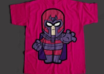 Magneto The Super Hero, Magneto Cartoon T-Shirt Design for Commercial Use