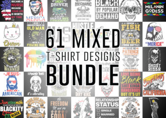 61 Best Selling Mixed Bundle T-Shirt Design for Commercial Use
