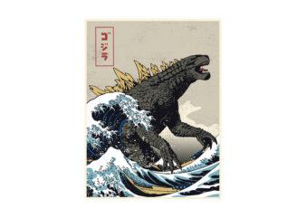 Great Godzilla off Kanagawa