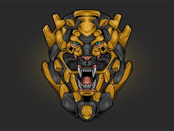 Lion Head Cyberpunk t shirt vector graphic