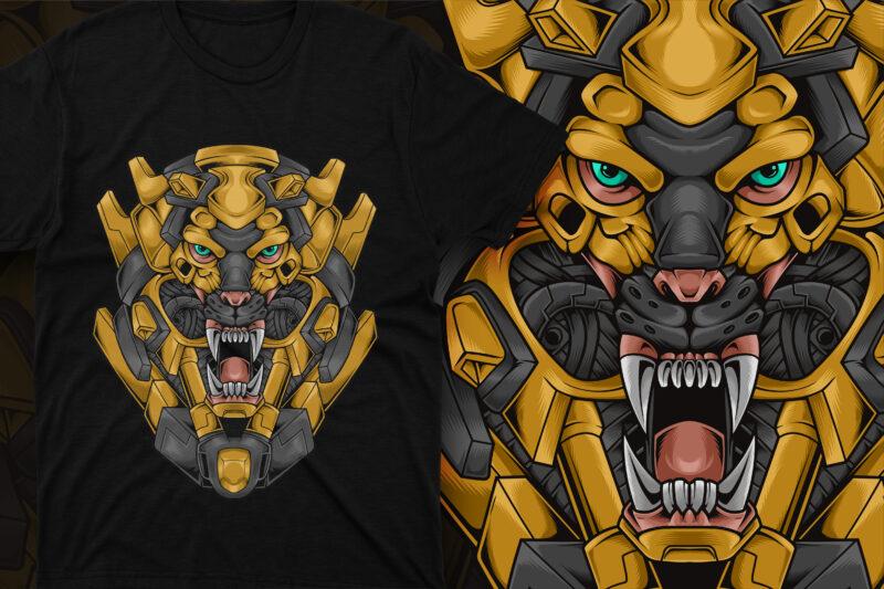 Lion Head Cyberpunk