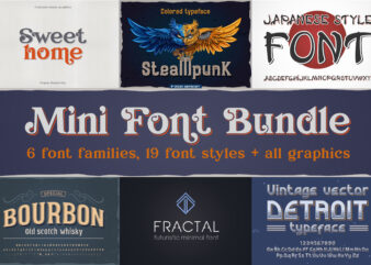 Mini font bundle + all bonus