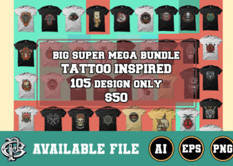 big tattoo inspired super mega bundle