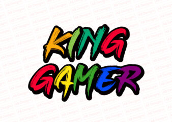 King gamer T-Shirt Design