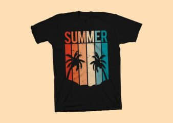 Summer t shirt design for commercial use