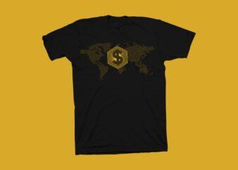 Super power vector illustration, Dollar Vector illustration, hustle t shirt design, Money vector illustration, super power t shirt design for commercial use