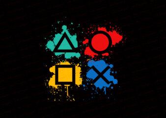 Gaming playstations, gaming buttons T-Shirt Design