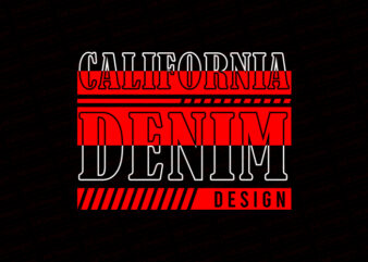 California denim design T-Shirt Design