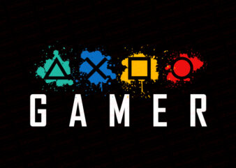 Gamer T-Shirt Design