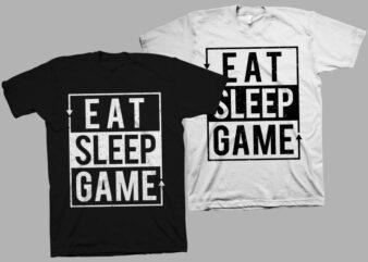 Eat Sleep Game Repeat t shirt design, gamer print svg, gaming t shirt svg, gamer slogan vector illustration, gamer t shirt design for commercial use