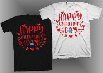 Valentine's day svg, Happy Valentine svg, girls valentine shirt design, my valentine t shirt design, cut files design for t shirt design sale