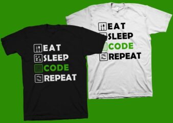 Eat sleep code repeat t shirt design, gamer t shirt svg, gamer print svg, gamer shirt, gaming t shirt, gamer vector illustration for sale