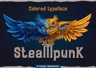 Steampunk font + bonus