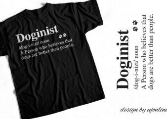 Doginist Definition T-Shirt Design