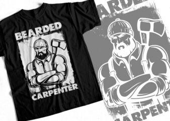 Bearded Carpenter – T-Shirt For Craftsmen – Carpenter Design For Sale
