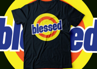 blessed tied replica design  blessed typography design
