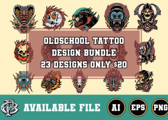 23 design oldschool tattoo bundle