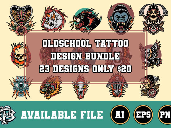 23 design oldschool tattoo bundle