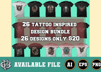26 tattoo inspired design bundle