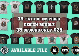 35 tattoo inspired design bundle only $25