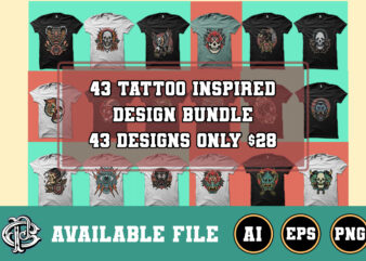 43 tattoo inspired design bundle