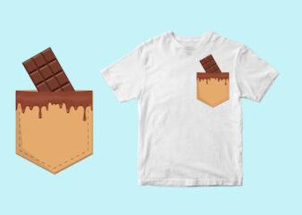 chocolate pocket , choco, chocolat svg , eps, ai, png t shirt design